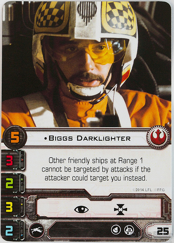 Biggs Darklighter X-Wing Card