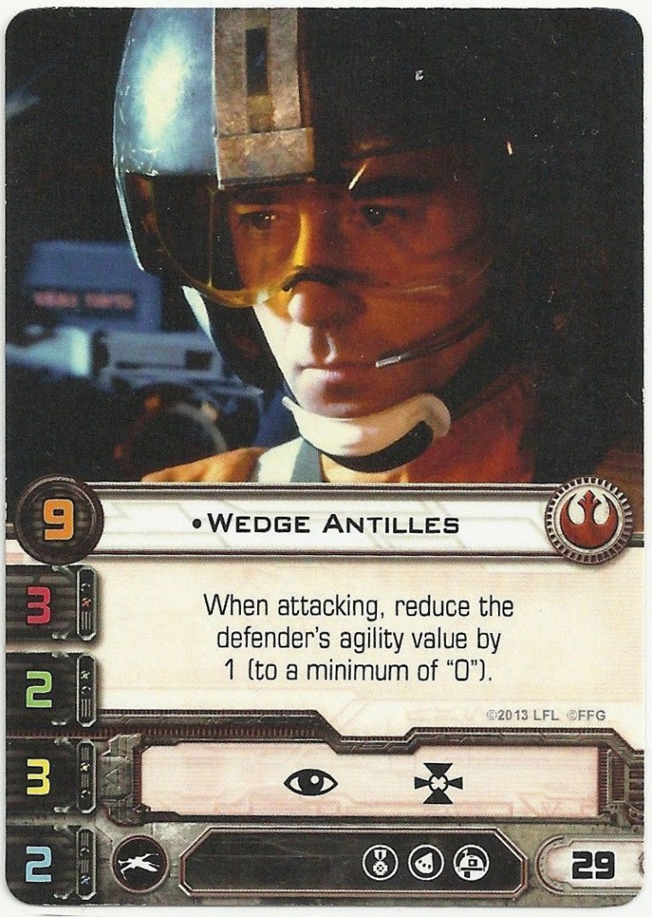 Wedge Antilles X-Wing Card