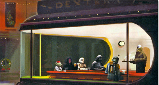 Diner Winter Star Wars