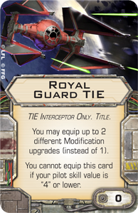 Could you imagine of Soontir was actually force sensitive like the Royal Guard? Rebellion cancelled!