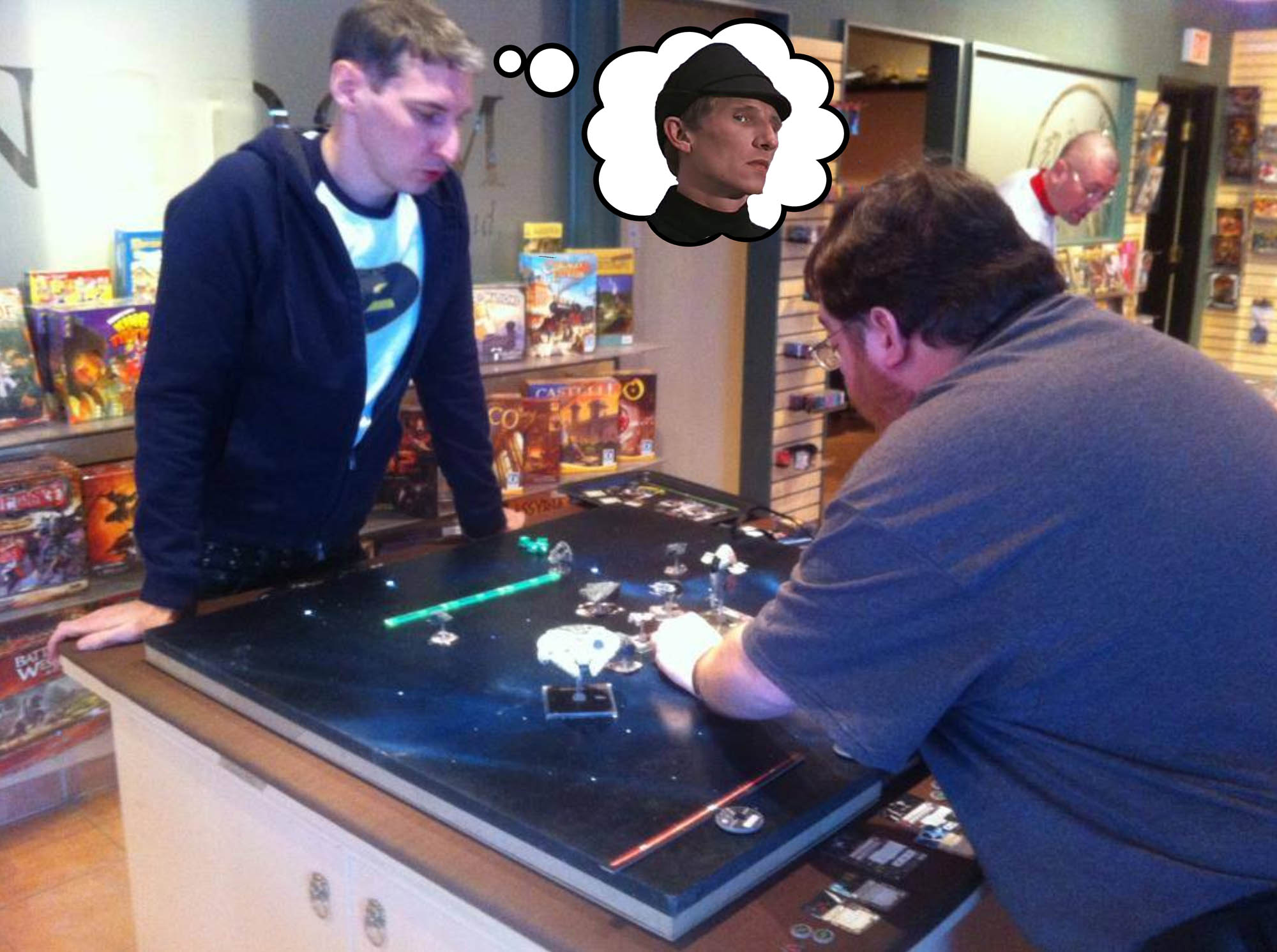 Don Winning a Kessel Run on my prototype LED table