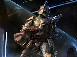That makes me picture Boba saying 'no disintegrations' to the enemy.