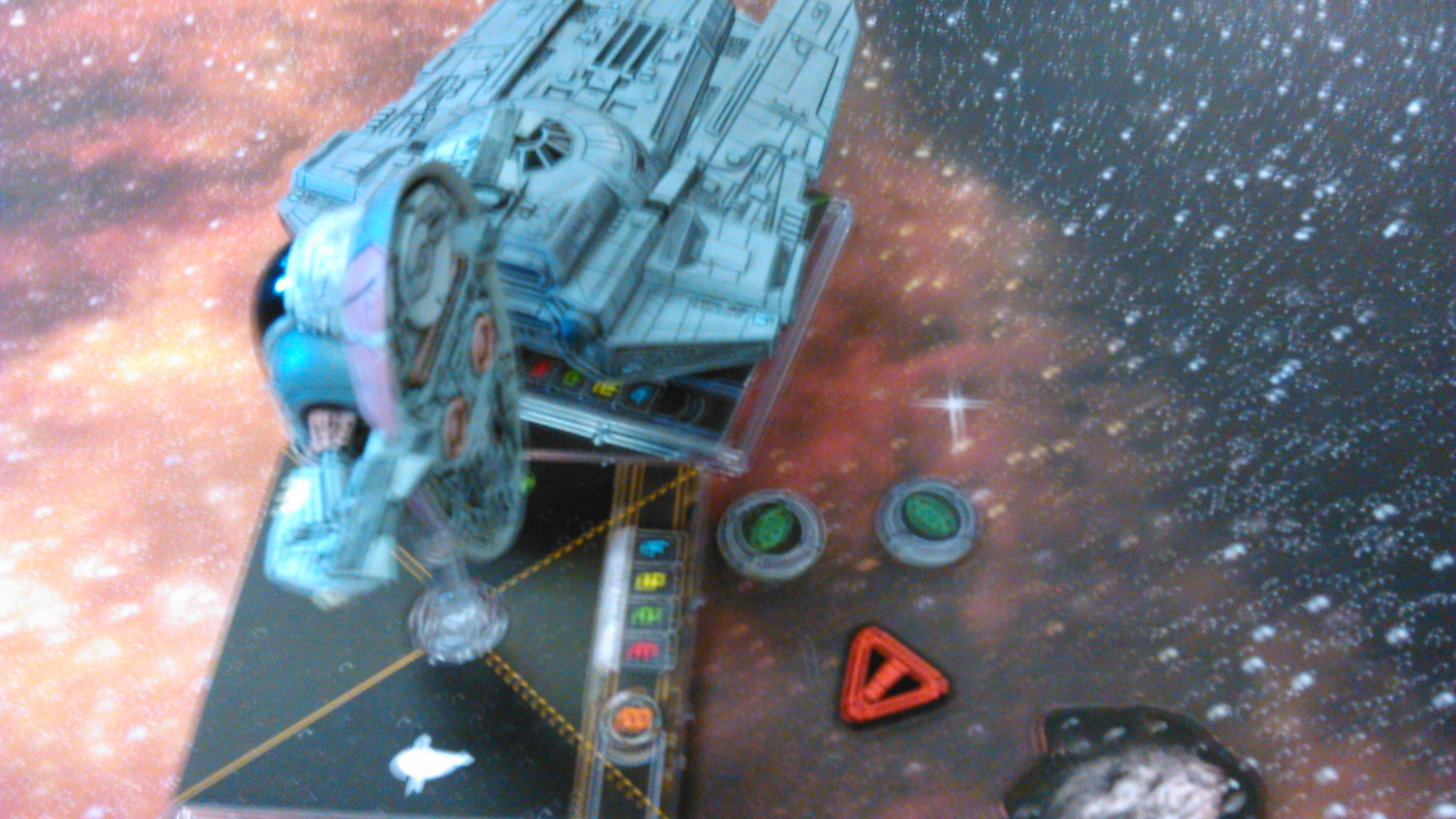 Boba not only avoids a bump, buts gets a range 1 shot on a Decimator.