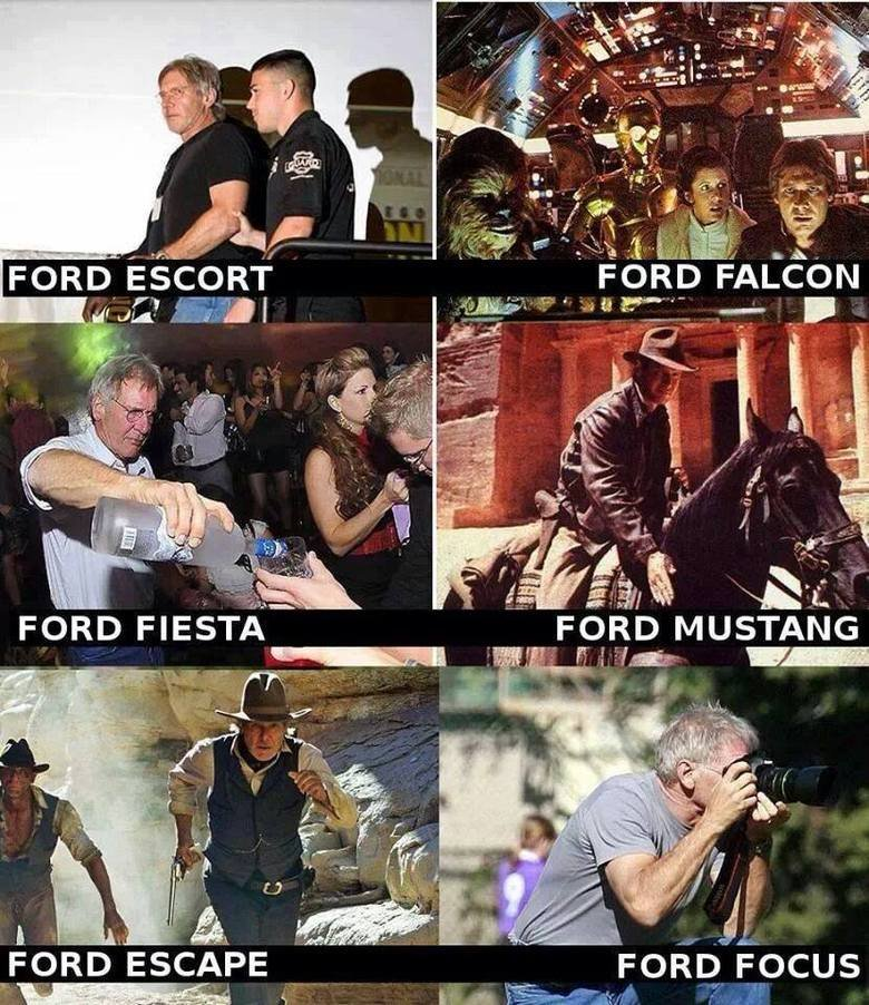 Pun Times with Han 10 Different Fords