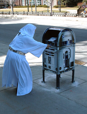 r2 leia mail box